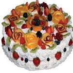 Торт с персиками и ананасом фото 2